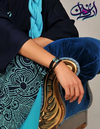 مانتو،دستبند،شال،ساپورت فیروزه ای