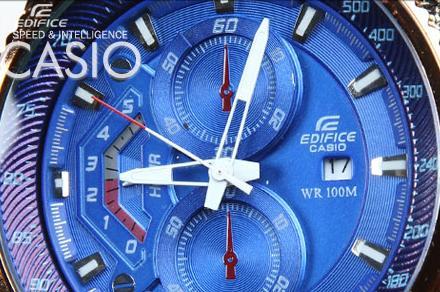 ساعت کاسیو صفحه آبی CASIO EF 558