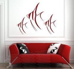برچسب دیواری با طرح زیبای ماهی