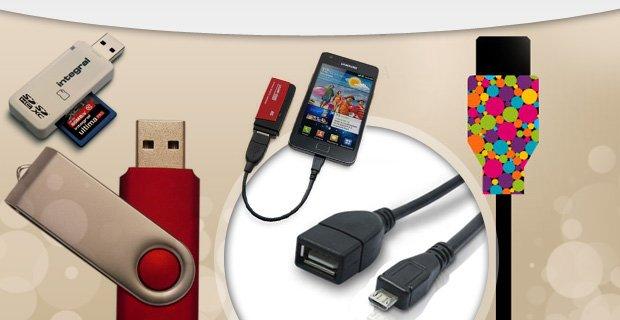 کابل OTG رابط فلش USB به موبایل و تبلت
