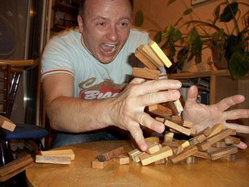 بازی جنگا JENGA با ۴۸ قطعه چوبی