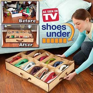 جاکفشی زیر تختی shoes under