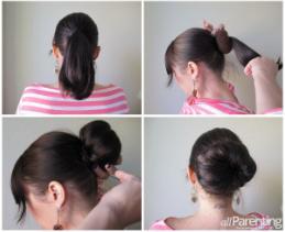 تل HOT BUNS با ۱۰ مدل بستن مو