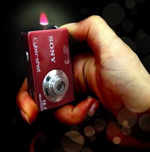 فندک اتمی و چراغ قوه با طرح دوربین سونی