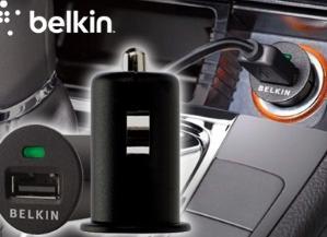 مبدل فندکی ماشین به USB مارک Belkin