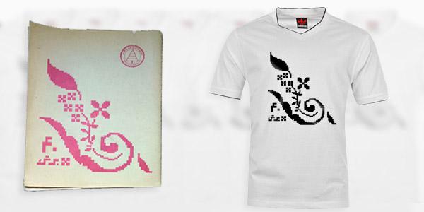 تی شرت با طرح نوستالژیک دفتر ۴۰ برگ