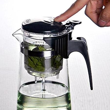قوری شیشه ای پیرکس جدید دم نوش و چای