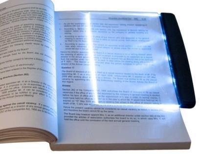 پنل مطالعه LED عملکرد با باتری دارای ۳ عدد LED