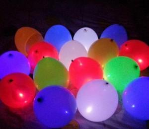 بادکنک رنگی و نورانی چراغ دار LED در بسته ۵ تایی *تخفیف ویژه*
