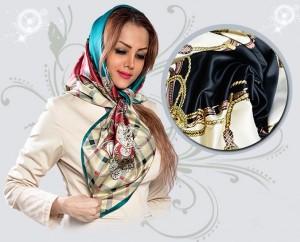 روسری ساتن مایا در ۸ طرح متنوع و زیبا