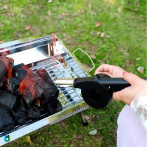 """فن دستی کباب پز """"بادبزن دستی بدون برق و باطری"""""""