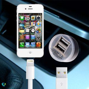 شارژر فندکی ماشین با ۲ خروجی USB