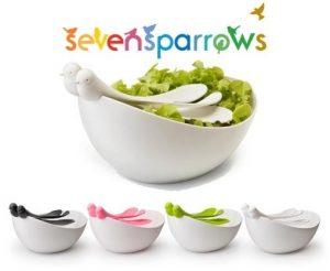سِت سالادخوری و چنگال طرح پرنده Seven Sparrows