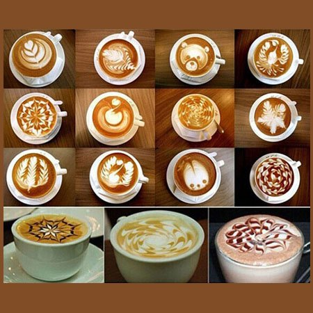شابلون طراحی و تزیین قهوه کاپوچینو لاته کیک GATER