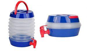 کلمن تاشو آب آکاردئونی با درب شیردار ظرفیت ۷٫۵ لیتر