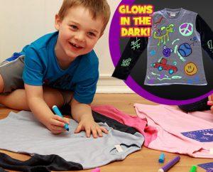 پکیج نقاشی روی لباس Draw jammies با ۳ شابلون و ۶ ماژیک