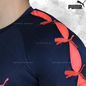 تیشرت ورزشی پوما PUMA سرمه ای جنس فلامنت