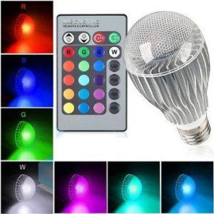 لامپ تغییر رنگ مختلف از طریق ریموت کنترل