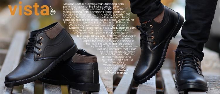 نیم بوت مردانه مشکی vista