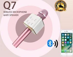 میکروفون بی سیم و بلوتوث دار Q7 سازگار با اندروید و ios