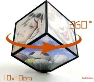 قاب عکس مکعبی رومیزی چرخشی ۳۶۰ درجه