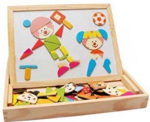 Animal Magnetic بازی آموزشی جورچین خلاقیت آهنربایی و چوبی