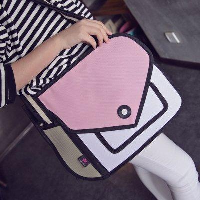 کیف دستی دو بعدی با دو محفظه اصلی بزرگ و کوچک