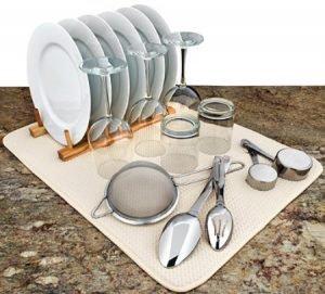 حوله آبگیر و نمگیر ظروف، میوه و سبزیجات Dish Drying Mat