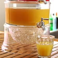 کلمن شیشه ای یا مخزن دو طبقه اکریلیک دارای شیر برای هر طبقه
