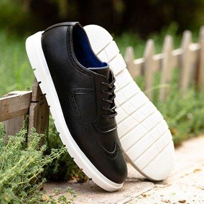 کفش راحتی مردانه floy طرح کتانی با کفه سفید