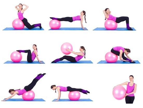 حرکات و تمرینات ورزشی با توپ پیلاتس