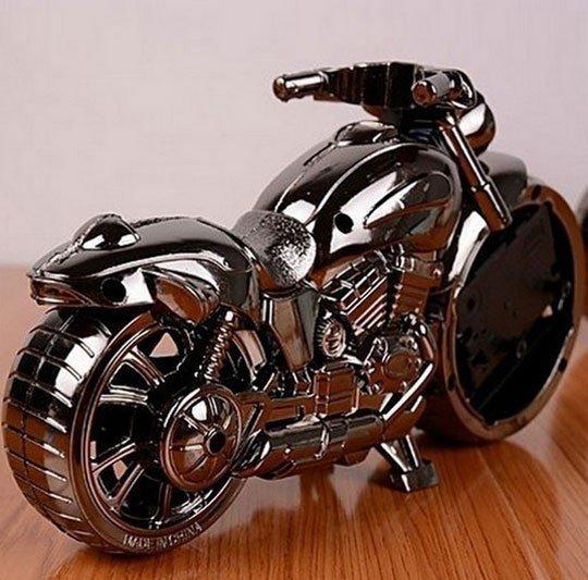 ساعت زنگ دار رومیزی طرح موتورسیکلت
