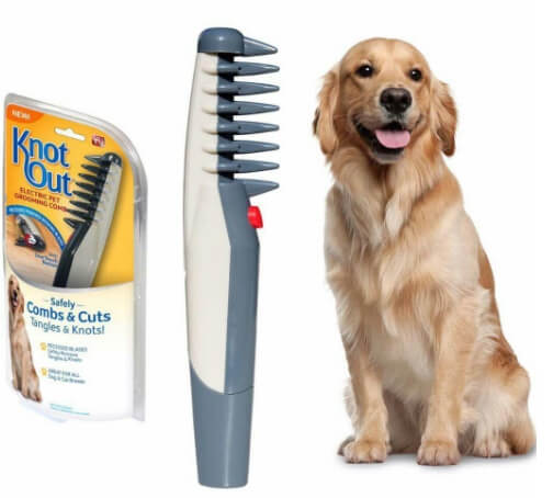 برس برقی knot out گره باز کن خز و موی سگ و گربه