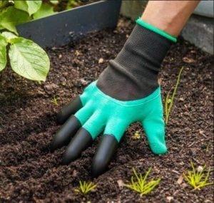 دستکش باغبانی دارای ناخن و پنجه سر انگشتان