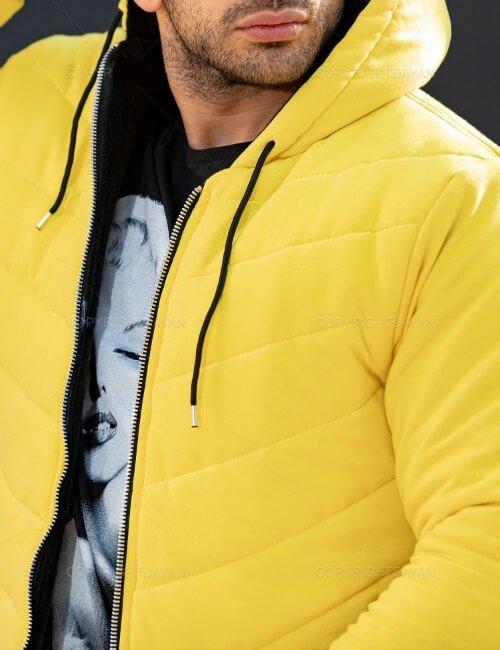 حراج کاپشن مردانه نیکا NIKA رنگ زرد