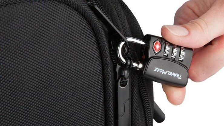 قفل TSA رمزگذاری کیف و ساک دستی