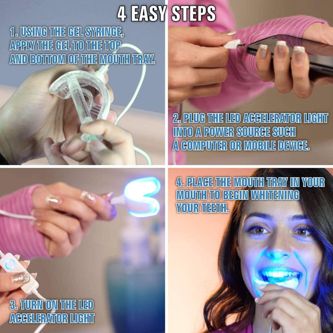 آموزش کار با بلیچینگ دندان