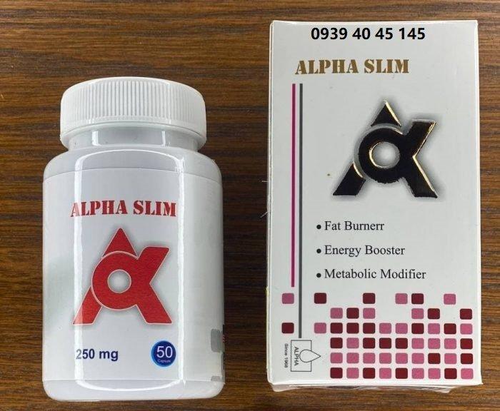 قرص لاغری آلفا اسلیم ALPHA SLIM اورجینال
