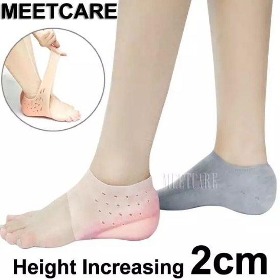 پاپوش افزایش قد سیلیکونی ۲ سانتیمتری داخل جوراب